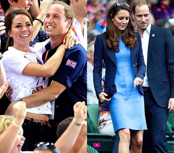 Az olimpia alatt összeölelkezve örültek az angolok eredményének, ugyanaznap már kissé elegánsabban pedig a teniszmérkőzésekre is ellátogattak.