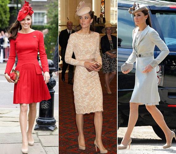 Katalin hercegnő legutóbb Vilmos herceg unokatestvérének esküvőjén viselte a magassarkút, de a királynő gyémántjubileuma alkalmából rendezett ünnepségsorozat több eseményére is ezt választotta.