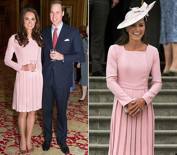 Alig több mint tíz nap elteltével Katalin hercegnő ugyanabban a rózsaszín ruhában jelent meg.