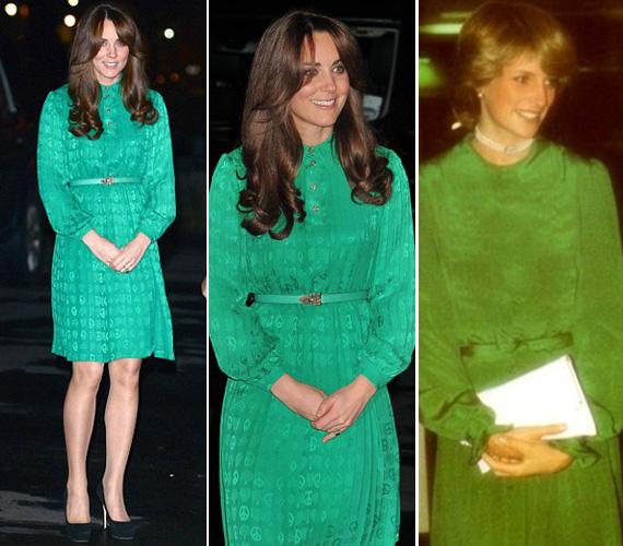Nemcsak a frizurája, de a zöld ruhája is férje édesanyját idézte meg: Diana 1983-ban Új-Zélandon, Aucklandben viselt egy hasonló, buggyos ujjú darabot.