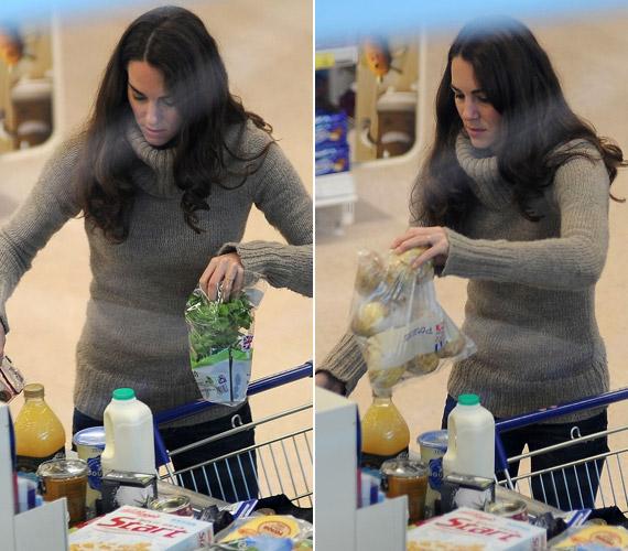 Katalin hercegnő kötött garbóban ment bevásárolni.