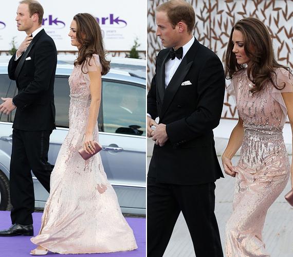 A hercegnő előszeretettel választ a hazai, vagyis brit tervezők kollekcióiból. Estélyijét is egy angol tervezőnő, Jenny Packham alkotta.