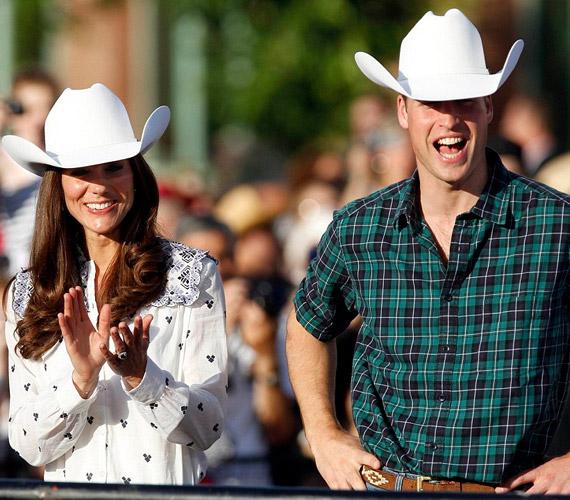 Calgaryben egy rodeón bebizonyosodott, hogy Katalinnak a cowboykalap is remekül áll.