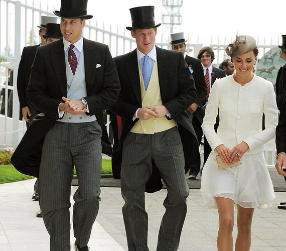 A brit hercegi pár 2011 júniusában Harry herceggel látogatott az epsomi derbire.