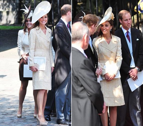 Kate szemmel láthatóan remekül beilleszkedett a királyi családba, az anyakirálynővel és Vilmos öccsével, Harryvel is jó a viszonya.