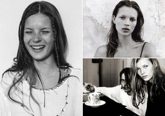 A bal oldali fotón még csak 15 éves a szupermodell. 1994 és 1998 között Johnny Depp barátnője volt. A kapcsolatuk kezdetekor a brit szépség még csak 20 éves volt, de koránál fiatalabbnak nézett ki.