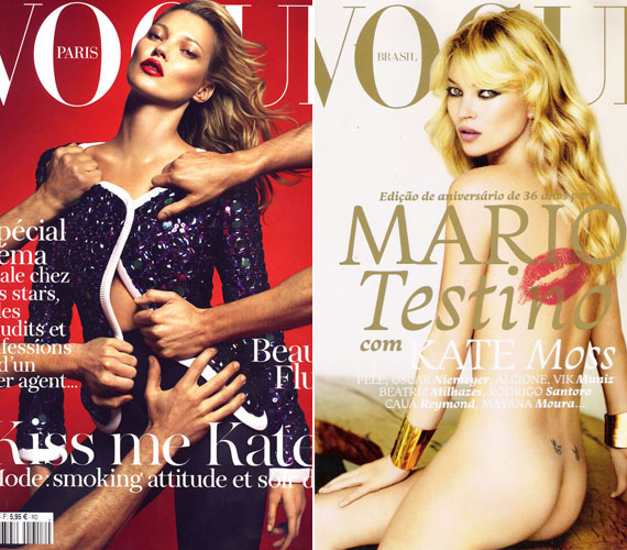 Korábban is számos alkalommal szerepelt már a Vogue-ban, olykor merész címlapfotókkal borzolta a kedélyeket.
