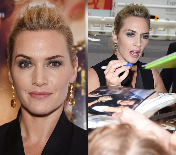 A színésznő egyik szemöldöke magasabban van, mint a másik, ami nem is lenne érdekes, ha a sminkkel nem hangsúlyozta volna ki.