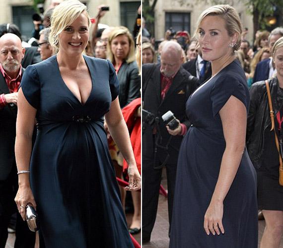 A színésznő külsejének, de leginkább a kebleinek kifejezetten jót tett a terhesség.