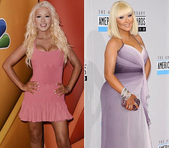 Christina Aguilera durván meghízott, mára azonban a súlyfelesleg legnagyobb részétől megszabadult.