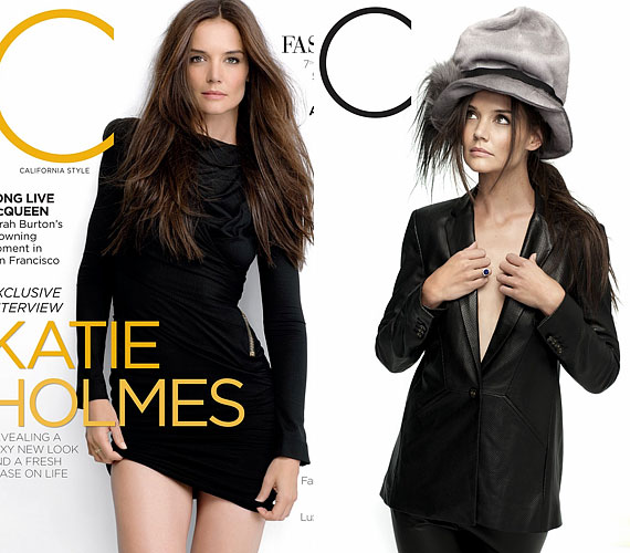Az egyik fotón Holmes & Yang bőrblézerben látható, amit Louis Vuitton kalappal és Harry Winston gyűrűvel egészített ki.