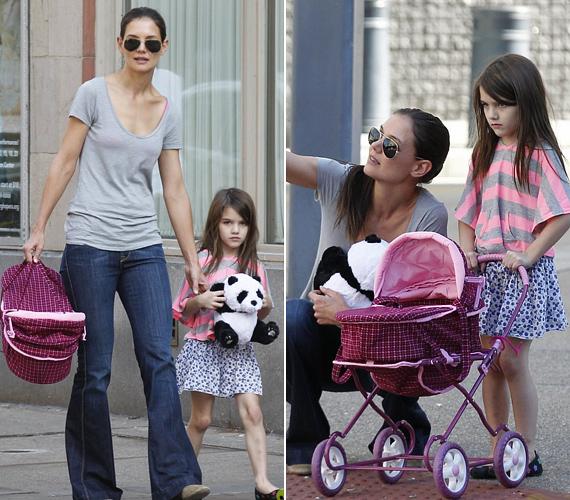 Katie és Suri pár napja még Pittsburgben sétált, Tom Cruise ugyanis ott forgatja legújabb moziját, a One Shot című akciófilmet.