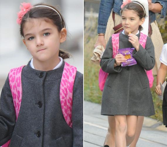 Suri Cruise már hatéves, és a jelek szerint nem csak hisztériázni tud - a képeken olyan, mint bármely másik gyerek.