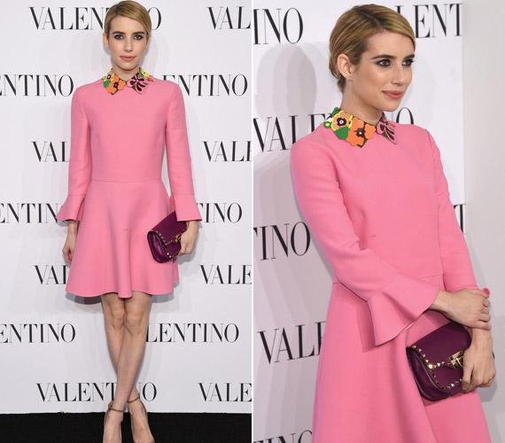 Emma Roberts a kislányos rózsaszín mellett döntött, egy kis retrós felhanggal.