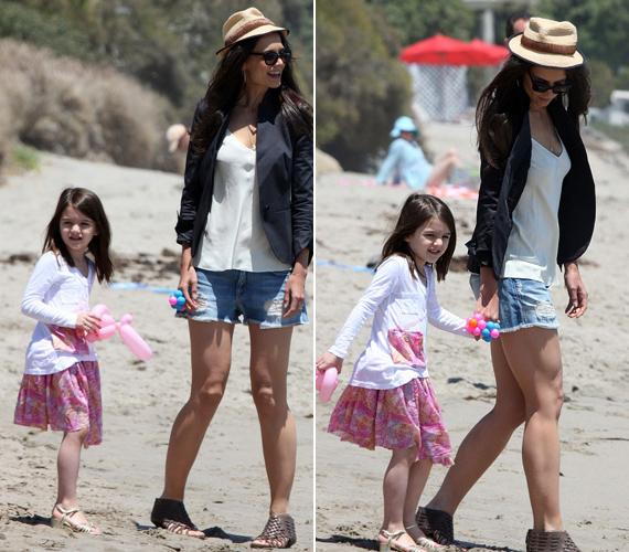 Katie férje, Tom Cruise most az egyszer nem tartott a családdal, pedig köztudott, mennyire odavan a lányáért.