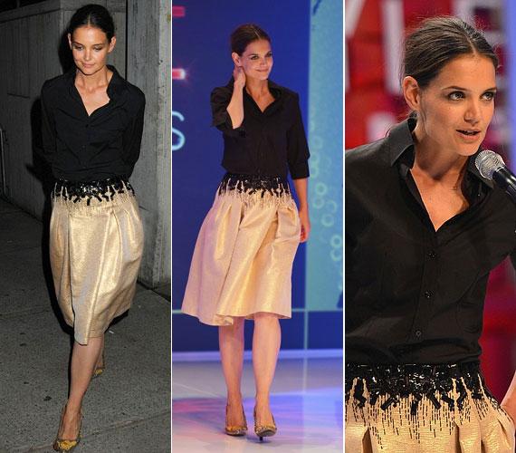 Szeptember 5-én a New Yorkban megrendezett Style Awards-gálán egy csinos bézs szoknyában és fekete blúzban jelent meg.