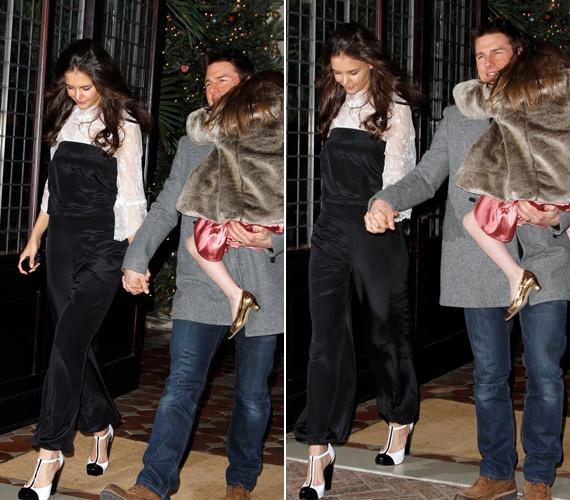 Katie Holmes nem éppen a legcsinosabb ruhájában ment családjával vacsorázni a születésnapján.
