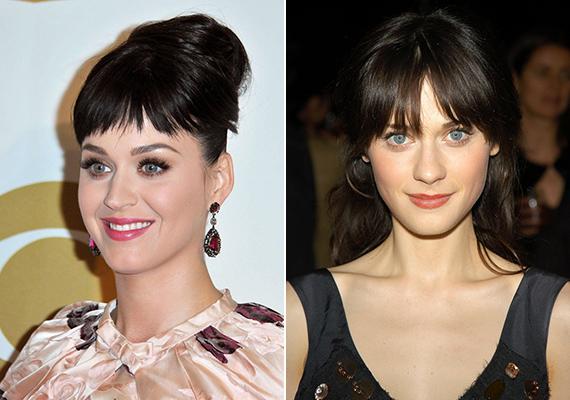 Katy Perryt és Zooey Deschanel hasonló karakter: sötét haj, porcelán bőr és nagy, kék szemek. Nem csoda, hogy gyakran összekeverik őket.