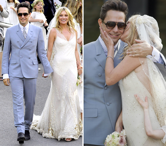 Kate Moss egy John Galliano ruhát választott, amely egy egyszerű, de nagyszerű darab volt. Visszafogottan hangsúlyozta ki a modell előnyös vonásait.
