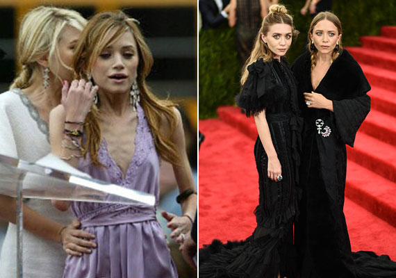 Mary-Kate Olsen is súlyos anorexiában szenvedett. Öt évvel ezelőtt pálcikára fogyott a színésznő, kezei elvékonyodtak, és minden bordája látszott. A legutóbbi vörös szőnyeges eseményen úgy tűnt, mintha visszaszedett volna pár kilót, ami kifejezetten jól áll neki - bal oldalon.