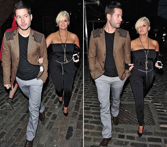Szombat éjjel párjával, Steve Alce-szal kapták le London utcáin.