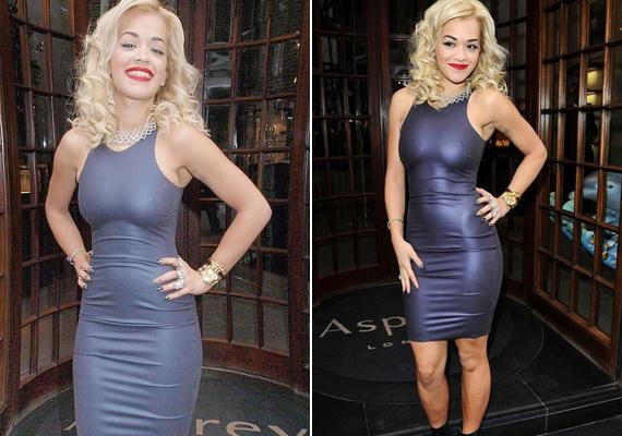 Rita Ora sem szívesen marad le a vetélytársától, Katy Perryhez hasonlóan ő is olyan kevés ruhát visel, amilyen keveset csak tud.