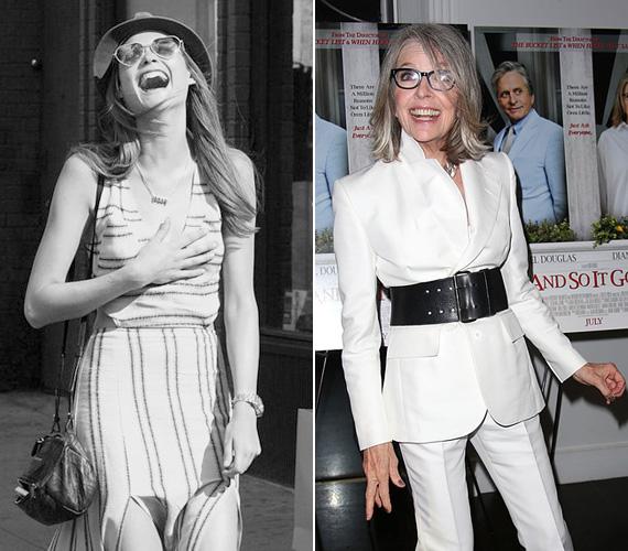 Diane Keaton 68 éves, és olyan filmekben játszott, mint a Keresztapa 2, a Játszd újra, Sam!, a Manhattan vagy legutóbb a Ruth és Alex, melyben Morgan Freeman feleségét alakítja.