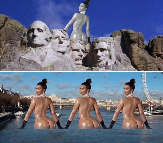 ARushmore-hegy és London sem lehet meg Kardashian nélkül.