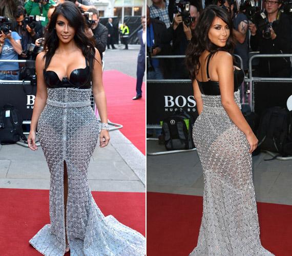 Kim Kardashian West lett az év nője, aki egy merészRalph & Russo darabban érkezett az estére, a képeket az Instagram-oldalán is megosztotta.