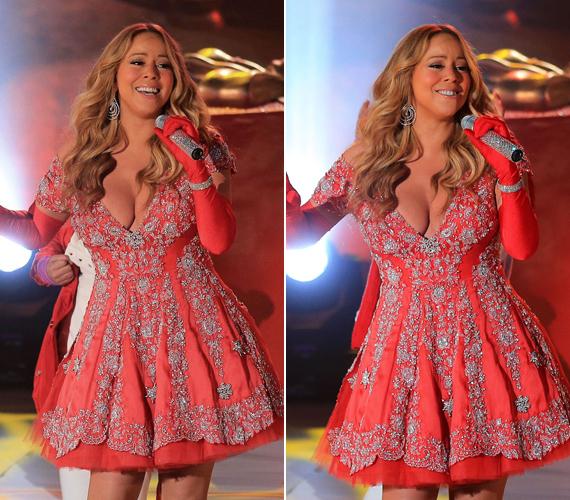 Mariah Carey egy New York-i rendezvényen mutatta meg, milyen bőkezűen bánt vele a természet.