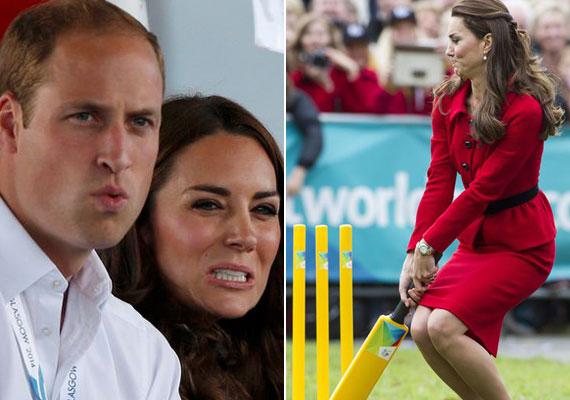 Katalin hercegné és Vilmos herceg nagy sportrajongók, ezt már sokszor bizonyították. A hercegi pár úgy tud szurkolni, hogy néha el is feledkeznek a lesifotósokról. A jobb oldali kép tényleg előnytelen Katalinról, testtartása és mimikája is hagy némi kívánnivalót maga után.