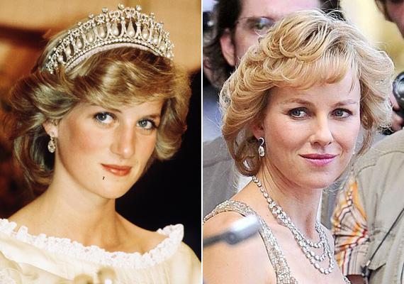 Lady Diana Spencer életét is filmre vitték, amiben Naomi Watts alakíthatta a fiatalon elhunyt hercegnőt.