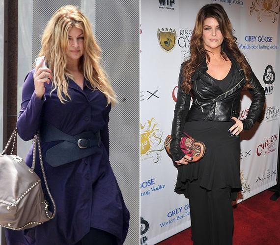2013 áprilisában is hasonló állapotban volt a színésznő, mint egy évvel később - pedig, ahogy a jobb oldali képen látható, 2012 januárjában még karcsún állt a kamerák elé egy rendezvényen.