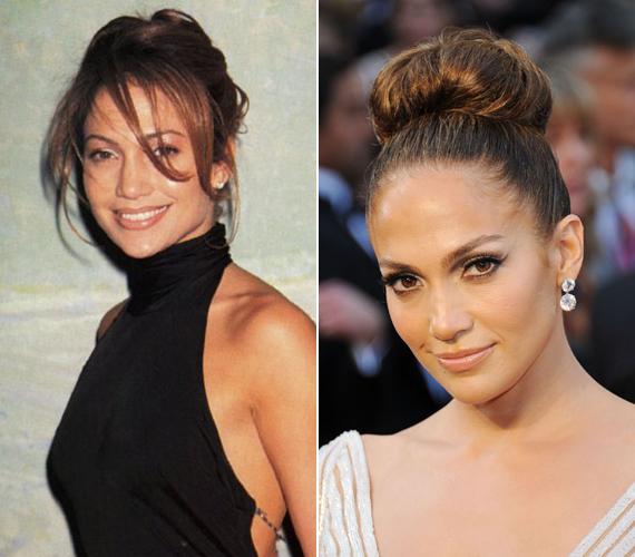 Ki hinné, hogy a két fotót majdnem 15 év különbséggel készítették Jennifer Lopezről? Az énekesnő ma 43 éves, de jóval kevesebbnek tűnik.