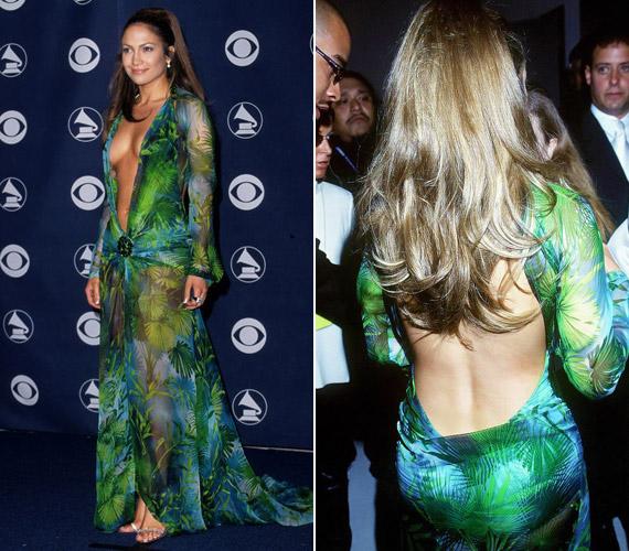 Jennifer Lopez 2000-es Grammy-gálás megjelenését azóta is emlegetik, nem azt a hatást érte el aVersace ruhájában, amiben reménykedett.