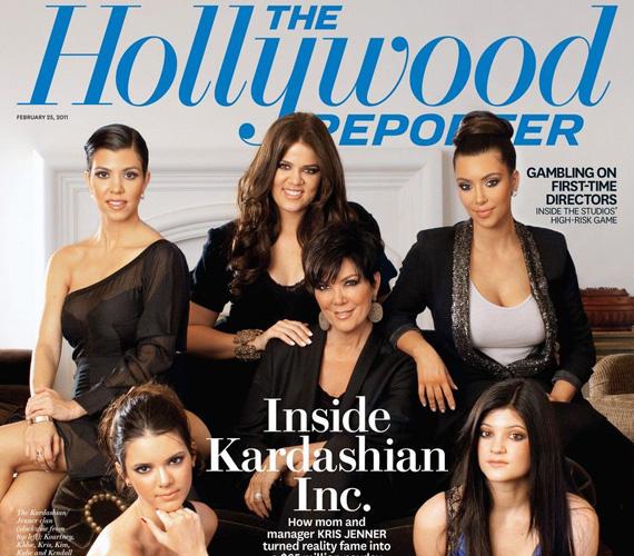 Kourtney, Khloé és Kim Kardashian, Kris Jenner, Kendall és Kylie Jenner még a The Hollywood Reporter címlapján is szerepeltek 2011 februárjában.