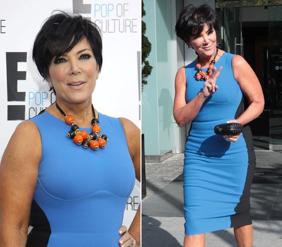 Nem vitás, ki volt Kim Kardashian példaképe: az édesanyja is előszeretettel húz fel az idomait kihangsúlyozó ruhákat. 57 évesen ilyen alakkal nincs is mit rejtegetnie.