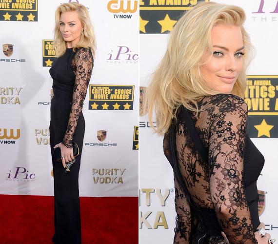 A Wall Street farkasával berobbant Margot Robbie egy csipkés kezeslábas Elie Saab mellett tette le a voksát.