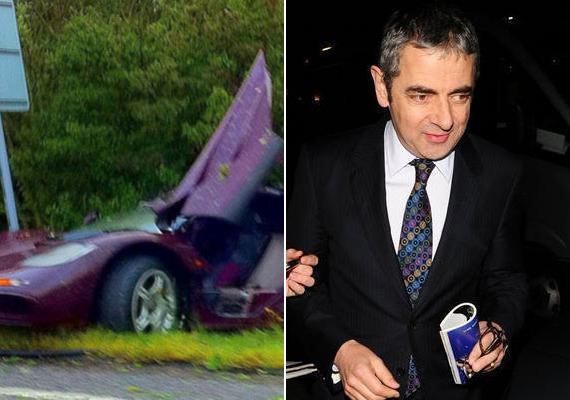 A Mr. Bean sztárja, Rowan Atkinson nagyon siethetett valahová, ugyanis 240 km/h-val haladt, amikor McLarenjével elkaszált egy fát és egy villanypóznát. Az autó kigyulladt, és szinte porig égett, de a színész megúszta egy válltöréssel.