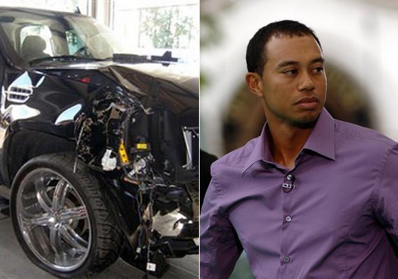 Tiger Woods feleségével ült fekete terepjárójában, amikor elvesztette uralmát a jármű felett, és lesodródott az útról. A nő egy golfütő segítségével jutott ki az ablakon, mindketten könnyebb sérülésekkel megúszták. 2009-ben pedig Cadillacjét törte össze a sztárgolfozó, akkor sokkal súlyosabb sérüléseket szenvedett.