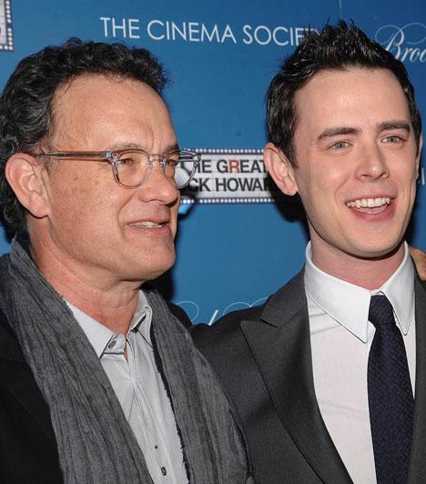 Colin Hanks  Tom Hanks és Samantha Lewes házasságából 1977. november 24-án született meg Colin Hanks, aki édesapja nyomdokaiba lépett. Láthattuk többek között a The Good Guys és a Roswell című sorozatokban, de szerepelt Az elit alakulatban is. Rövidesen a Dexter hatodik évadjában tűnik majd fel.  Kapcsolódó cikk: Szerinted hasonlítanak egymásra? Tom Hanks fia jóképű, sármos pasivá érett »