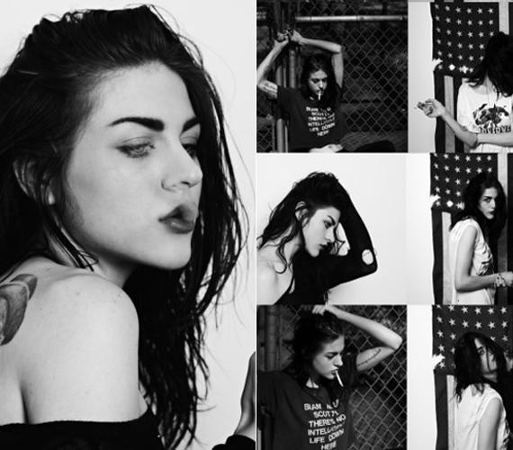 A fekete-fehér fotósorozat készítője Hedi Slimane, aki idén augusztusban választotta múzsájának az izgalmas külsejű, rendkívül fotogén Cobain-lányt.