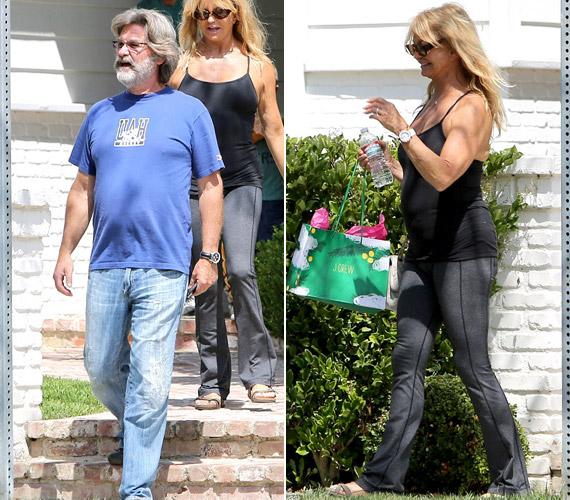 Felesége, a szintén színész Goldie Hawn sem volt a legjobb formában. Egy egyszerű melegítőben sétált, melyben jól látszottak a hasánál lévő hurkák. Az igénytelen megjelenés ellenére a pár boldognak tűnt.