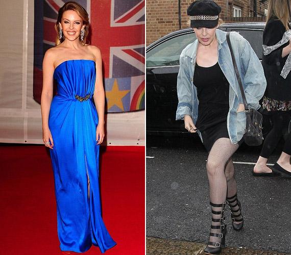 Bár a vörös szőnyegen rendszerint ellenállhatatlan, a hétköznapokon olykor Kylie Minogue-ot is cserbenhagyja divatos énje.