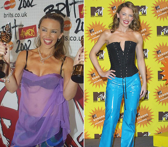 A 2002-es Brit Awardson alaposan megizzasztotta a fotósokat, hiszen a ruhája pont olyan volt, mintha a melltartójára csak egy átlátszó kendőt vett volna fel blúz gyanánt. Egy évvel korábban, a 2001 MTV EMA alkalmával sem hozott sokkal jobb döntést, akkor egy kényelmetlennek tűnő fűzőt párosított egy kék PVC nadrággal.