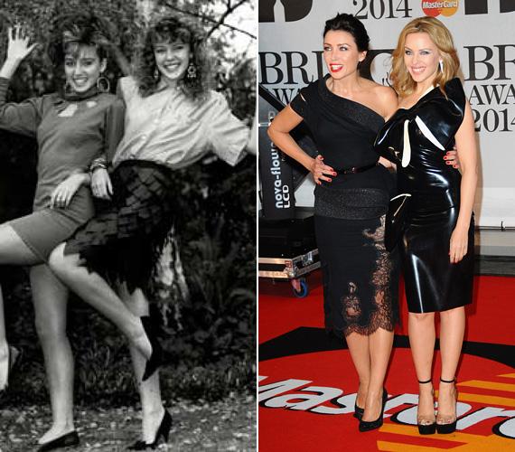 Három évvel fiatalabb húgával, Dannii-vel tinikorukban együtt léptek fel, azóta jelentősen csiszolódott az ízlésük, már ami a ruhákat illeti. 2014-ben a BRIT Awardson tökéletesen néztek ki mindketten.