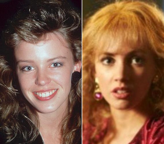 Kylie Minogue szerint kísérteties a hasonlóság közte - bal oldal - és Samantha Jade között.