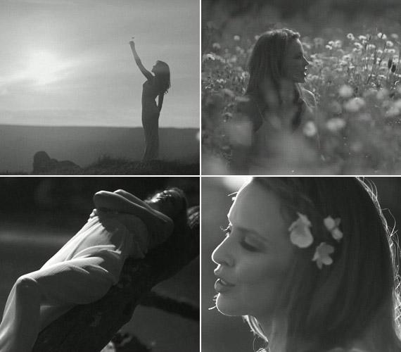 Kylie Minogue legújabb klipjében a természet lágy ölén.