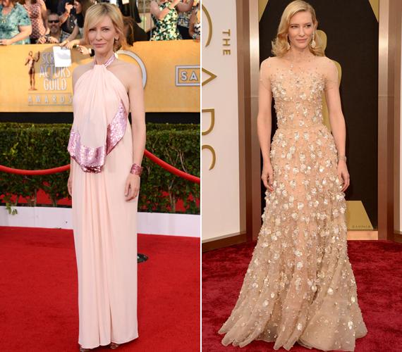 Még a gyönyörű Cate Blanchett sem mindig tudja, mi állna neki a legjobban. Más magyarázat ugyanis nincs a bal oldalon látható, hastájékon kövérítő ruhára, amely ráadásul eltakarta a színésznő amúgy irigylésre méltóan karcsú derekát. A 2014-es Oscaron viselt Armani estélyi viszont telitalálat.