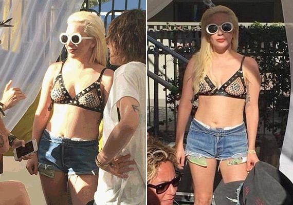 Habár Lady Gaga a mellbimbóját egy csillámos tapasszal elfedte, a szerelése így az egyik legmerészebb volt, amit valaha láthattunk.